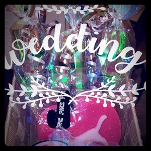 Gift basket with VS and Bath and Body Works candle